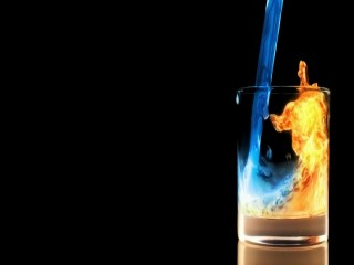 Fire and Ice Glass