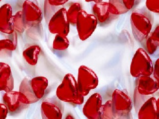 Shiny Glass Hearts
