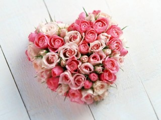 Valentine's Day heart of roses