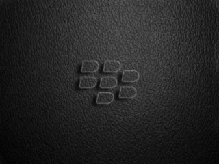 Blackberry leather logo