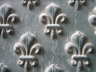Fleur de Lis - A detail from a door at Les Invalides in P...