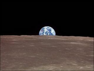 Earth Space View From Moon