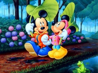 Mickey And Minnie In Love