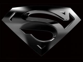 Black Superman Logo